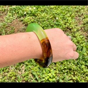 Two Toned Lucite Bangle
